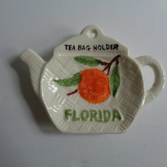 Vintage Other - Vintage Florida Spoon Rest Tea Bag Holder Coffee